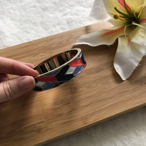 Talbots Jewelry - Talbots Bangle Bracelet Geometric Magnetic Gold